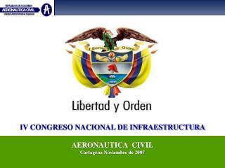 IV CONGRESO NACIONAL DE INFRAESTRUCTURA AERONAUTICA  CIVIL Cartagena Noviembre de 2007