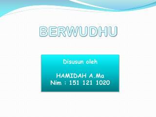 BERWUDHU