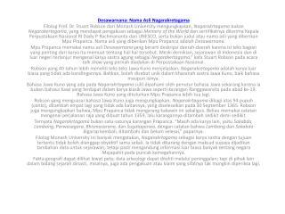 Desawarnana :  Nama Asli Nagarakretagama