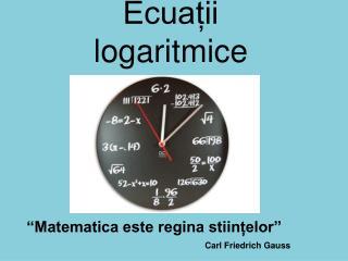 Ecua?ii logaritmice
