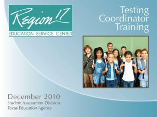 2010-2011 TAKS Coordinator  Agenda   Welcome and Introductions   Key Changes in Testing Policy