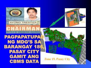 PAGPAPATUPAD NG MDG'S SA BARANGAY 186, PASAY CITY GAMIT ANG CBMS DATA
