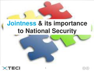 Jointness  & its importance to National Security
