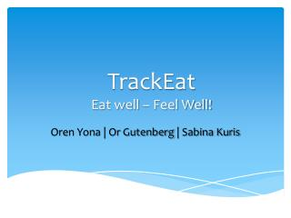 TrackEat Eat well – Feel Well!