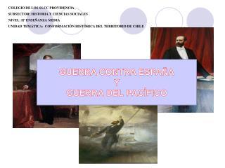COLEGIO DE LOS SS.CC PROVIDENCIA SUBSECTOR: HISTORIA Y CIENCIAS SOCIALES