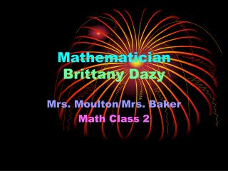 Mathematician Brittany Dazy