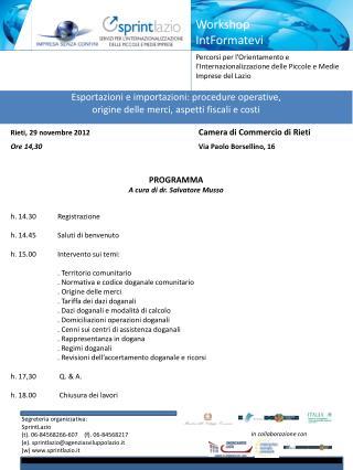 Esportazioni e importazioni: procedure operative,  origine delle merci, aspetti fiscali e costi