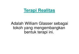 Terapi Realitas