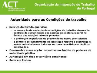 Organização da Inspecção do Trabalho  de Portugal