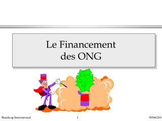 Le Financement  des ONG