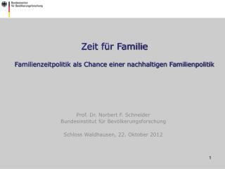Zeit für Familie Familienzeitpolitik als Chance einer nachhaltigen Familienpolitik