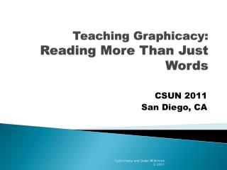 Teaching Graphicacy: Reading More Than Just Words