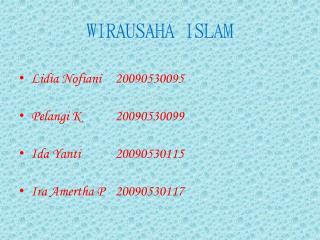 WIRAUSAHA ISLAM