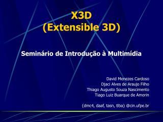 X3D (Extensible 3D)