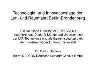 Technologie- und Innovationstage der Luft- und Raumfahrt Berlin-Brandenburg