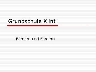 Grundschule Klint