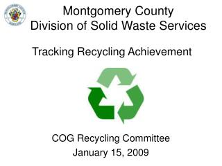 Montgomery County  Division of Solid Waste Services