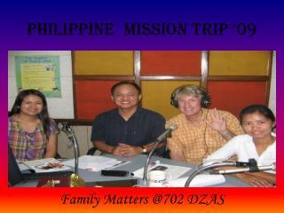 Philippine  mission trip '09
