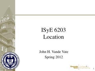 ISyE 6203 Location