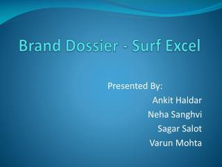 Brand Dossier - Surf Excel