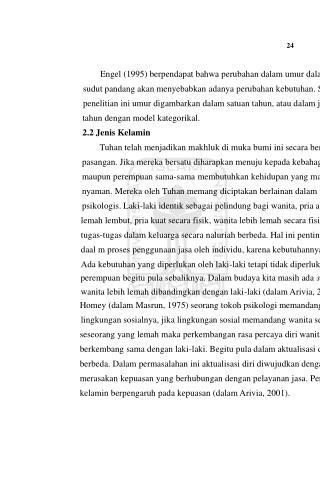 24 Engel (1995) berpendapat bahwa perubahan dalam umur dalam berbagai
