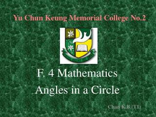 Yu Chun Keung Memorial College No.2