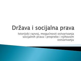 Dr �ava i socijalna prava