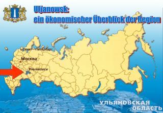 Uljanowsk:  ein ökonomischer Überblick der Region