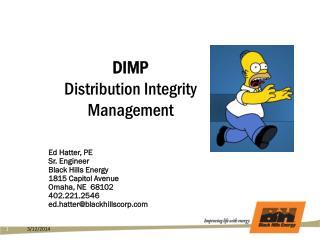 DIMP Distribution Integrity  Management
