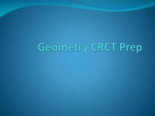 Geometry CRCT Prep