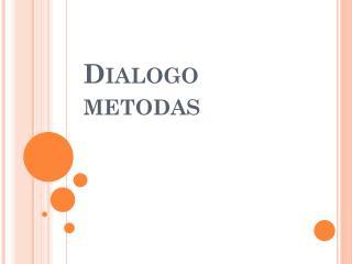Dialogo metodas