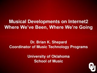 Musical Developments on Internet2