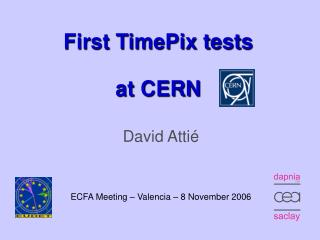 First TimePix tests  at CERN