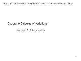 Chapter 9 Calculus of variations