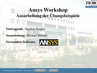 Ansys Workshop Ausarbeitung der Übungsbeispiele