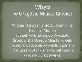 Wizyta  w Urzędzie Miasta Gliwice