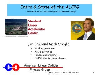 Intro & State of the ALCPG