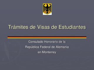 Tr ámites de Visas de Estudiantes