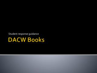 DACW Books