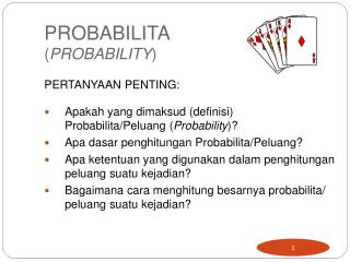 PROBABILITA  ( PROBABILITY )