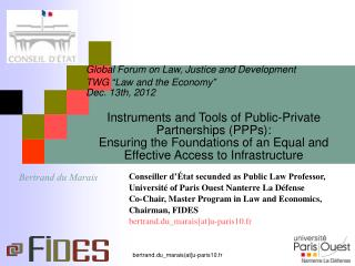 "Global Forum on Law, Justice and Development TWG ""Law and the Economy""  Dec. 13th, 2012"
