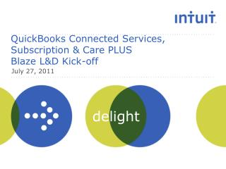 QuickBooks Connected Services, Subscription & Care PLUS  Blaze L&D Kick-off