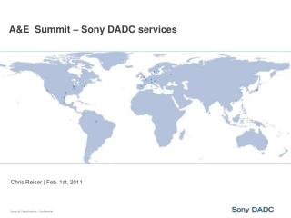 A&E  Summit – Sony DADC services