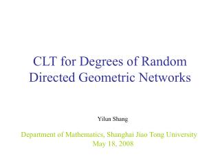 CLT  for  Degrees of Random Directed Geometric Networks