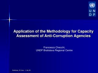 Application of the Methodology for Capacity Assessment of Anti-Corruption Agencies