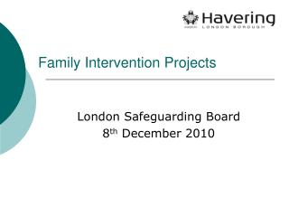 Family Intervention Projects