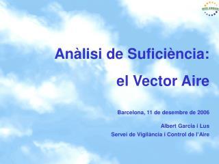 Anàlisi de suficiència Vector Aire