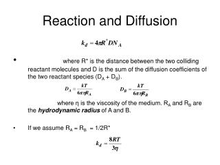 Reaction and Diffusion