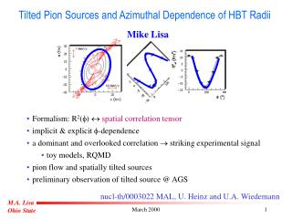 Tilted Pion Sources and Azimuthal Dependence of HBT Radii