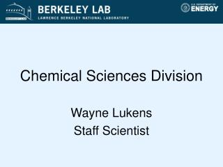 Chemical Sciences Division